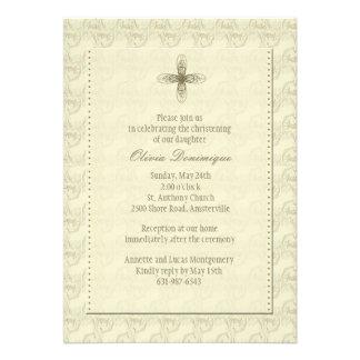 Invitación religiosa cruzada del oro