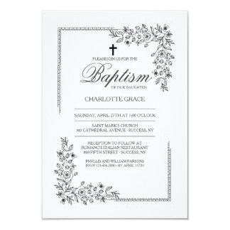 Invitación religiosa de la bendición florida