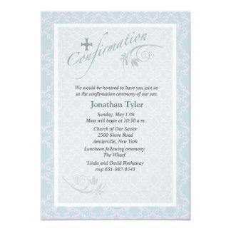 Invitación religiosa de la confirmación de