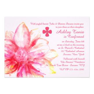 Invitación religiosa de la dalia rosada