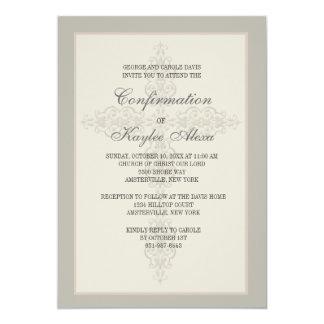 Invitación religiosa de la filigrana cruzada invitación 12,7 x 17,8 cm