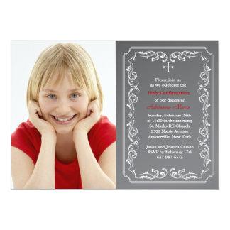 Invitación religiosa de la foto de la pizarra invitación 12,7 x 17,8 cm