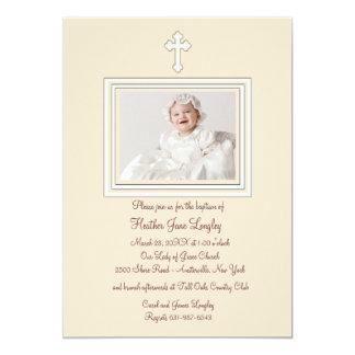 Invitación religiosa de la foto del cervatillo invitación 12,7 x 17,8 cm