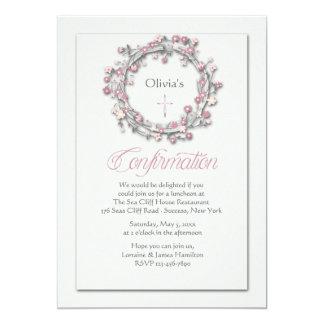 Invitación religiosa de la guirnalda de la invitación 12,7 x 17,8 cm