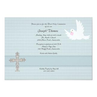 Invitación religiosa de la paloma fiel