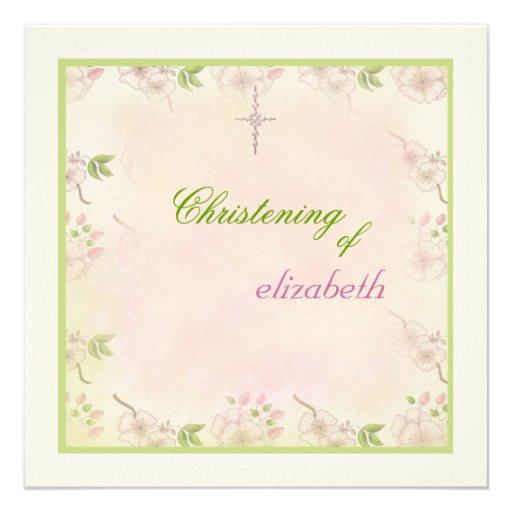 Invitación religiosa de las flores de cerezo