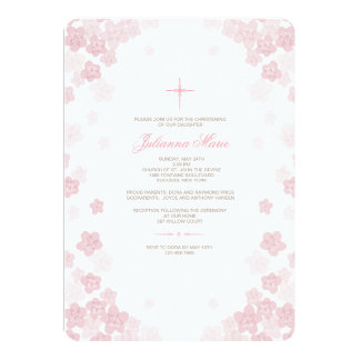 Invitación religiosa de las flores pálidas