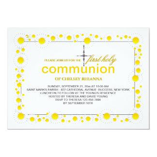 Invitación religiosa de las margaritas blancas