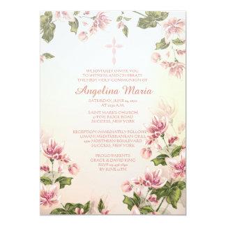 Invitación religiosa de los Dogwoods rosados Invitación 12,7 X 17,8 Cm