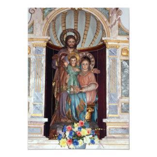 Invitación religiosa del bautismo del icono
