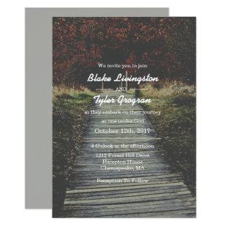 Invitación religiosa del boda de la naturaleza