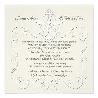 Invitación religiosa del corazón blando invitación 13,3 cm x 13,3cm