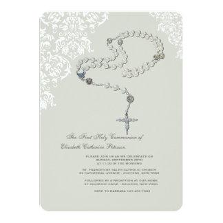 Invitación religiosa del rosario santo invitación 12,7 x 17,8 cm