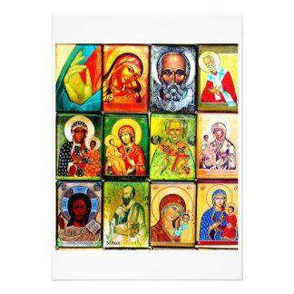 Invitación religiosa del tema cristiano