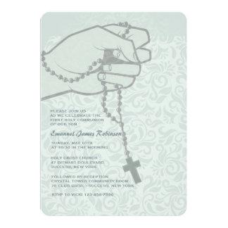 Invitación religiosa disponible del rosario