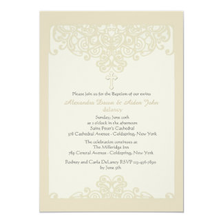 Invitación religiosa ornamental poner crema