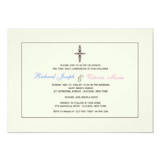 Invitación religiosa poner crema