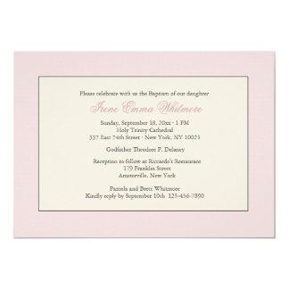 Invitación religiosa rosada