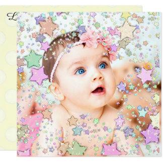 Invitación reluciente del nacimiento del bebé de