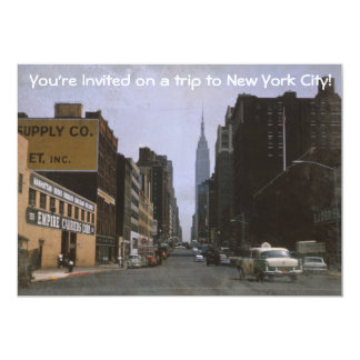 Invitación retra 1963 de New York City