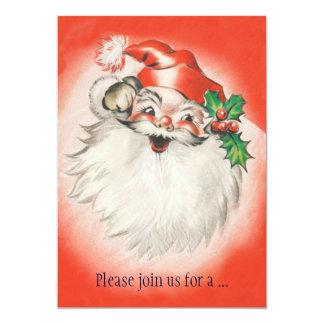 Invitación retra alegre de la fiesta de Navidad de