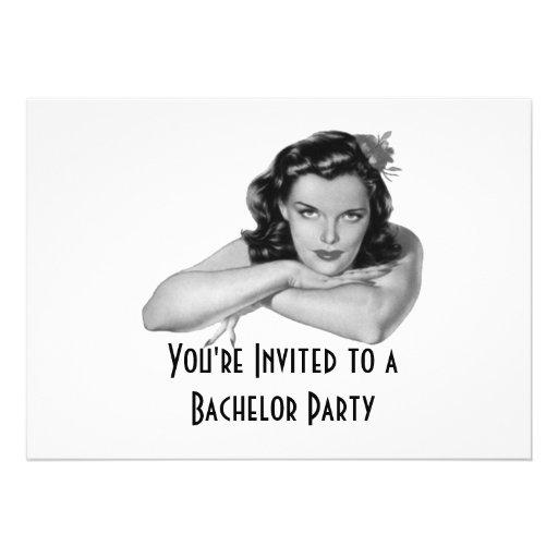 Invitación retra de la despedida de soltero