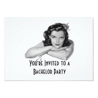 Invitación retra de la despedida de soltero invitación 12,7 x 17,8 cm
