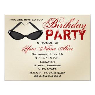 Invitación retra de la fiesta de cumpleaños de las