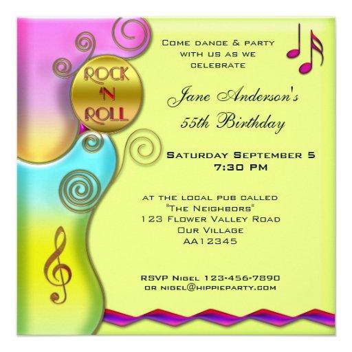 Invitación retra de la fiesta de cumpleaños del ro