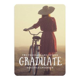 Invitación retra de la fiesta de graduación
