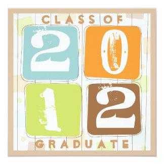 Invitación retra de la fiesta de graduación de los