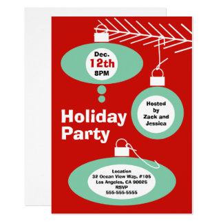 Invitación retra de la fiesta de Navidad
