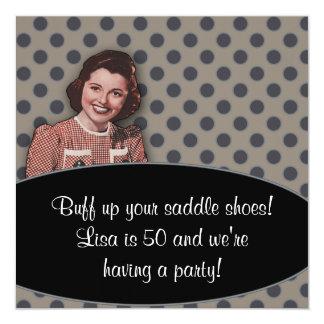 Invitación retra de la fiesta del cumpleaños de la