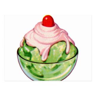 Invitación retra de la fuente de soda del helado