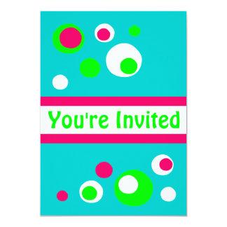 Invitación retra de las burbujas