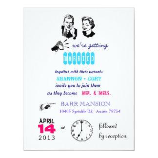 Invitación retra del boda