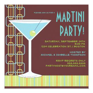 Invitación retra del cóctel de Martini