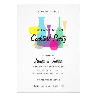 Invitación retra del cóctel del fiesta de