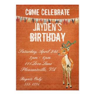 Invitación retra del cumpleaños del dólar ambarino invitación 13,9 x 19,0 cm