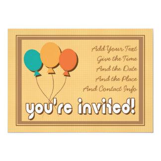 Invitación retra del fiesta