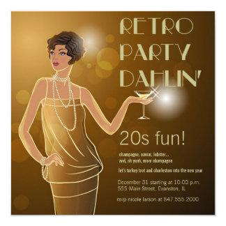 invitación retra del fiesta 20s