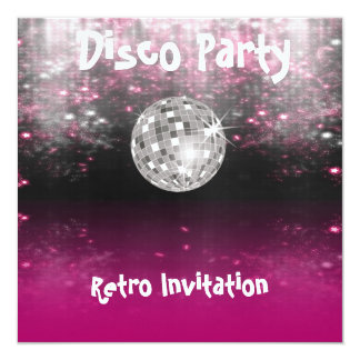 Invitación retra del fiesta de disco