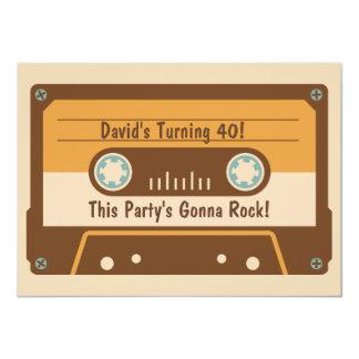 Invitación retra del fiesta de la cinta de casete