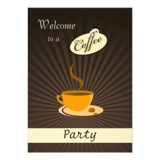 Invitación retra del fiesta de la taza de café