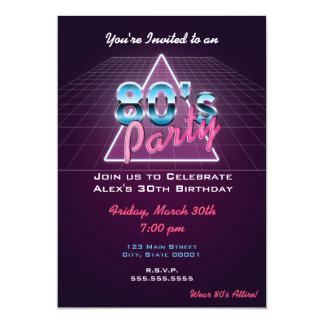 Invitación retra del fiesta de los años 80