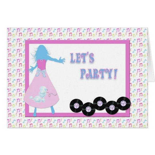 Invitación retra del fiesta tarjeta de felicitación