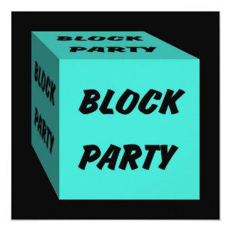 Invitación retra del Social de la fiesta de barrio Invitación 13,3 Cm X 13,3cm