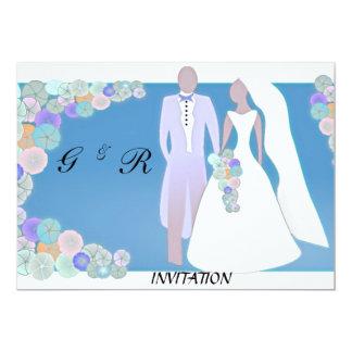 Invitación retra elegante del boda
