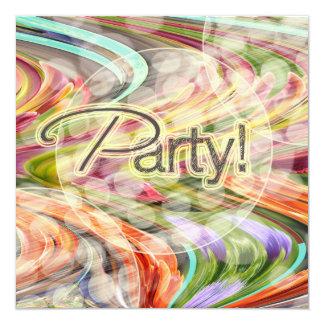 Invitación retra festiva de la fiesta de