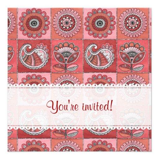 Invitación retra romántica del cumpleaños